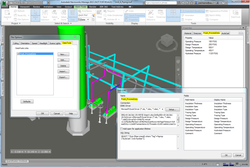 In the Pipes: Extending Plant 3D Data in Navisworks using